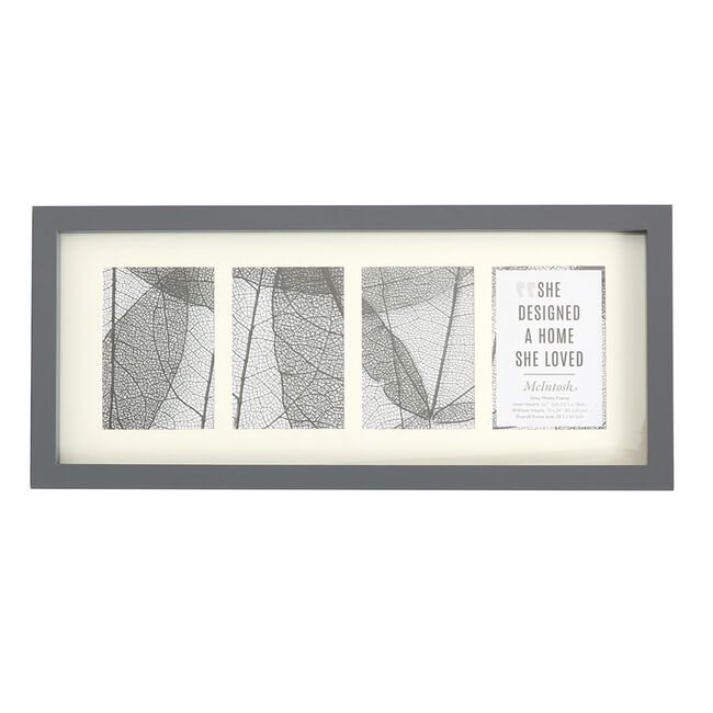 4 5X7 MCINTOSH GREY Photo Frame  25X61CM