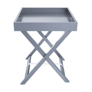 Butlers Large Tray Table - Soft Grey