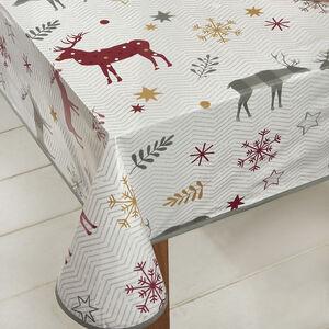 Herringbone Stag PVC Table Cloth 160x230cm