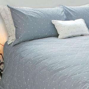 Polly Polka Grey Bedspread 200cm x 220cm