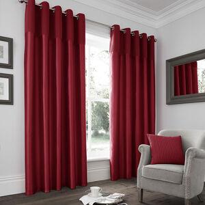 Velvet Pleat Red Curtain