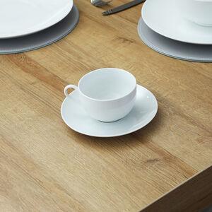 ABNEY & CROFT WHITE Tea Cup & Saucer