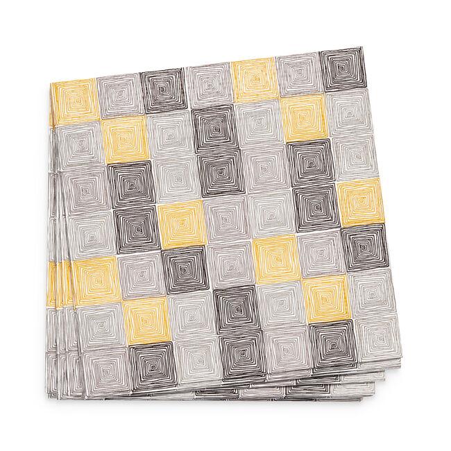 Geo Squares Napkins 20 Pack