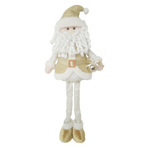 Extendable Gold Santa 22""