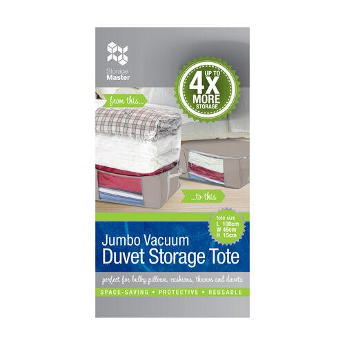Jumbo Vacuum Duvet Storage Tote
