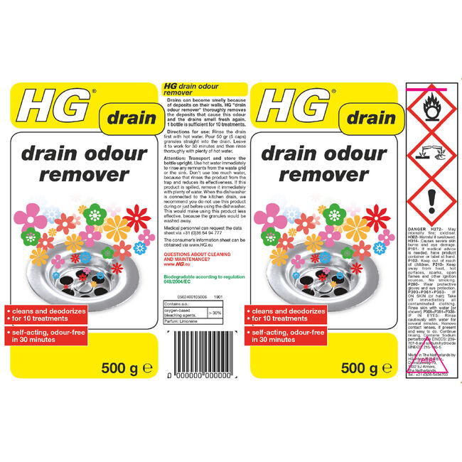 HG Drain Odour Remover 500g
