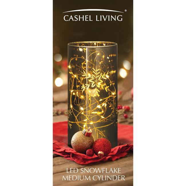 Cashel Living LED Snowflake Medium Cylinder