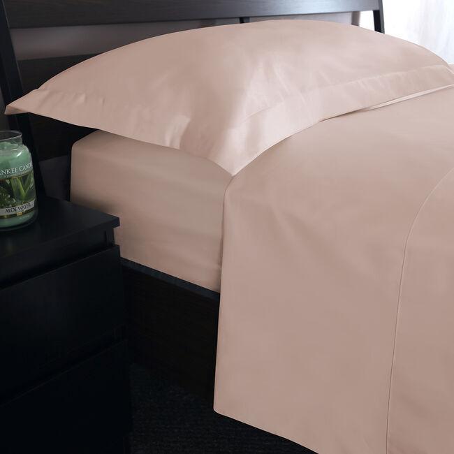 SKS FLAT SHEET 500 Threadcount Cotton Blush 8J
