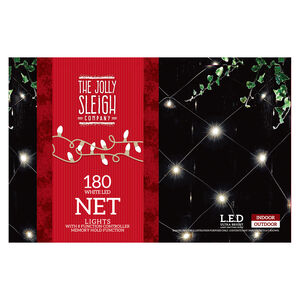 180 Bright LED Chaser Net Lights White