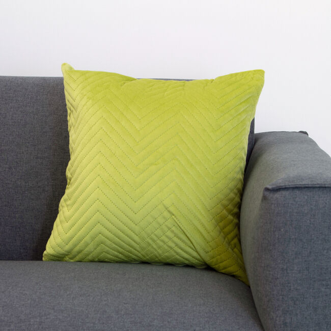 Triangle Stitch Cushion 45x45cm - Lime