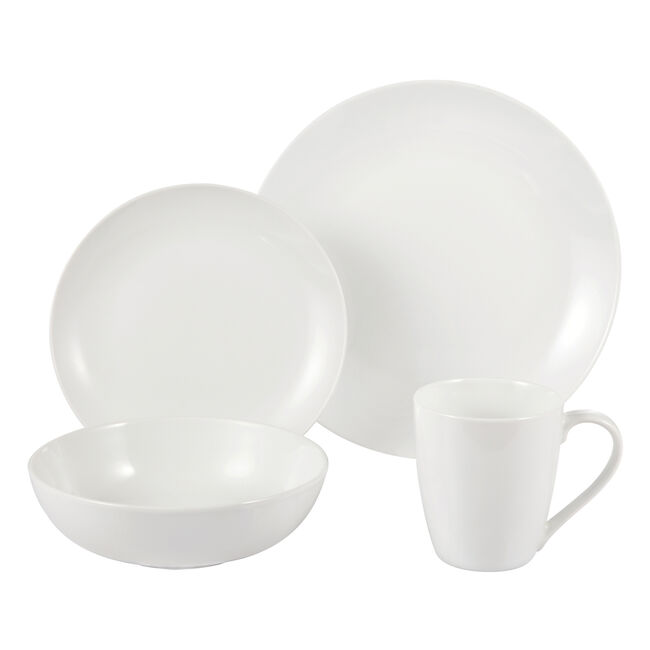 White Coupe 16 Piece Dinner Set