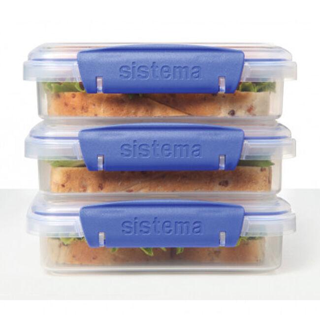 Klip It Airtight Sandwich Boxes 3 Pack
