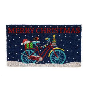 Christmas Bicycle Door Mat 40cm x 70cm