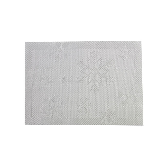 Snowflakes Placemat - Silver