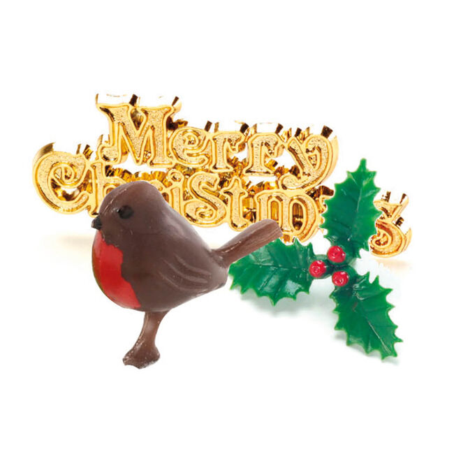 Yule Log Cake Topper Kit 3Pc