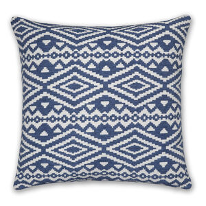 Aztec Blue Cushion 58x58cm