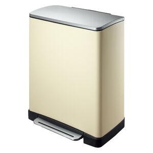 E-Cube 2 Compartment Cream Recycling Bin