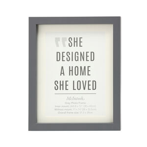 "Mcintosh Grey Photo Frame 8x12"" (A4)"