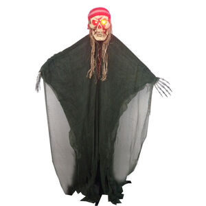 5ft Standing Light Up Ghost With Red Bandana