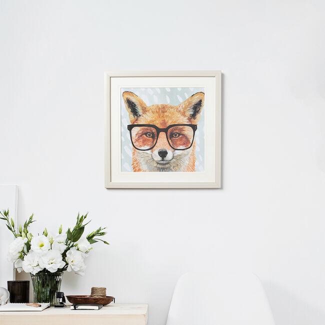 Foureyed Forester Framed 37 x 37cm - Fox