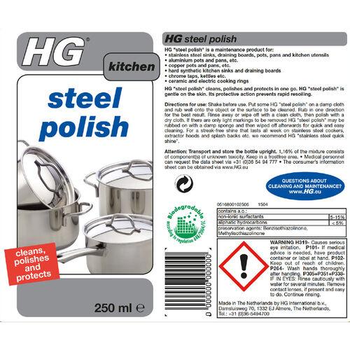 HG Steel Polish 250ml
