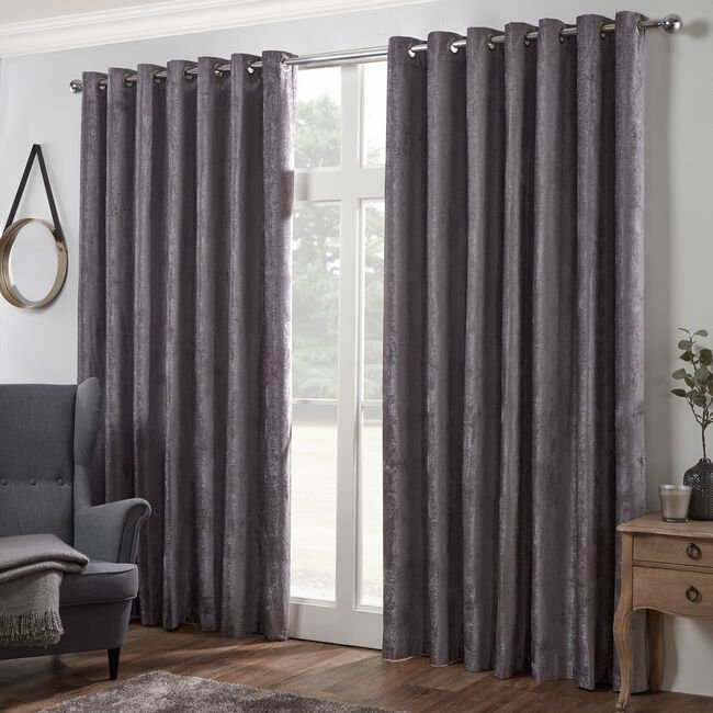 BLACKOUT & THERMAL TEXTURED SLATE 90X90 Curtain