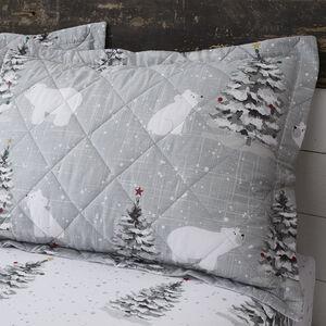 Polar Bears Grey Pillowshams