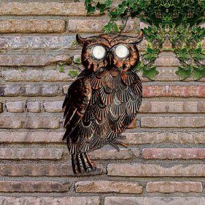 3D Solar Owl Garden Decoration