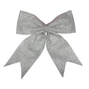 Large Silver Diamante Christmas Bow