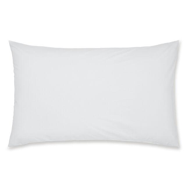 Luxury Percale Housewife Pillowcase Pair - White