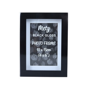 Metz Black Gloss Photo Frame 4x6""