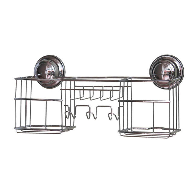 Chrome Suction Bathroom Rack