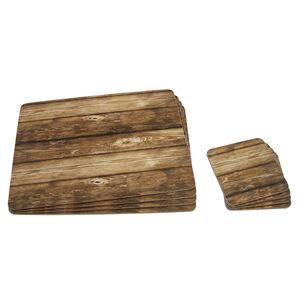 Wood Love 4Pk Mats & Coasters