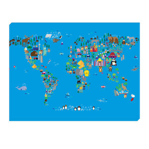 World Map Children 80cm x 60cm