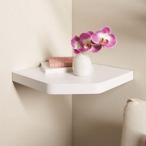 Capri White Corner Floating Wall Shelf