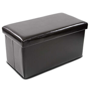 Luxury Double Folding Ottoman Black