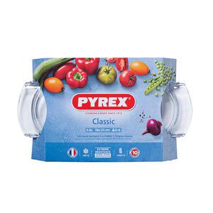 Pyrex Oval Casserole Dish 4.4+1.4L (5.8L)