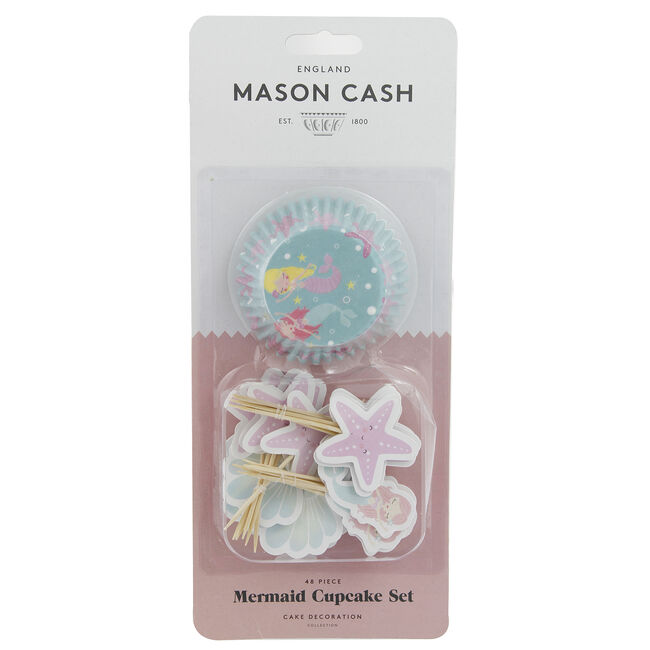 Mason Cash Mermaid Cupcake Cases & Toppers