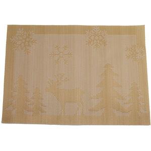 Reindeer Placemat - Gold