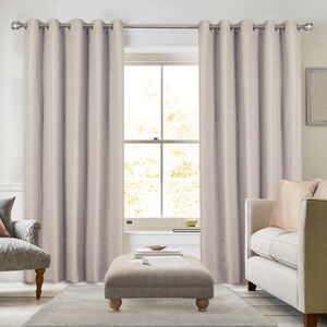 BLACKOUT & THERMAL STRIPE NATURAL 66x54 Curtain