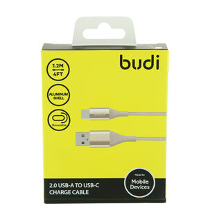 Budi Gold Type C Charging Cable 1.2m