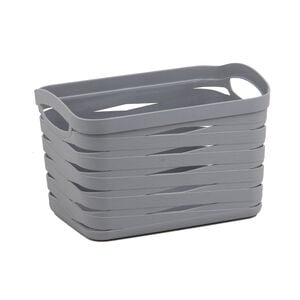Ribbon Storage Basket 7L - Soft Grey