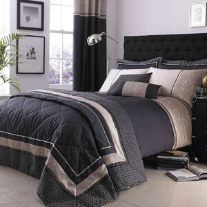 DOUBLE DUVET COVER Luxury Geo Natural