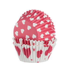 60 Hearts Cupcakes Cases