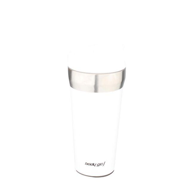 Bodygo White 380ml Travel Mug with Suction Bottom