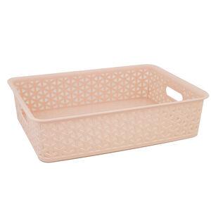 Geometric 6.5L Blush Basket