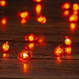 Halloween 20 Orange Pumpkin Lights