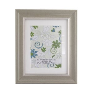 Natural & Silver Photo Frame 8x6""