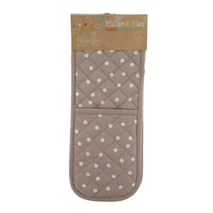 Polka Dot Natural Double Oven Glove