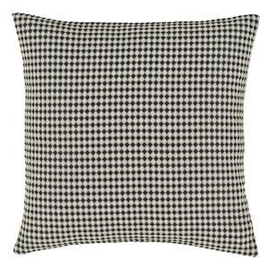 Waffle Raised Cushion 58x58cm - Black